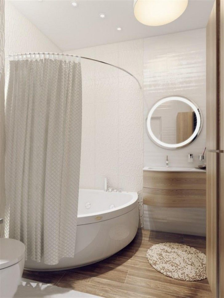 corner tub with curtain - Google Search