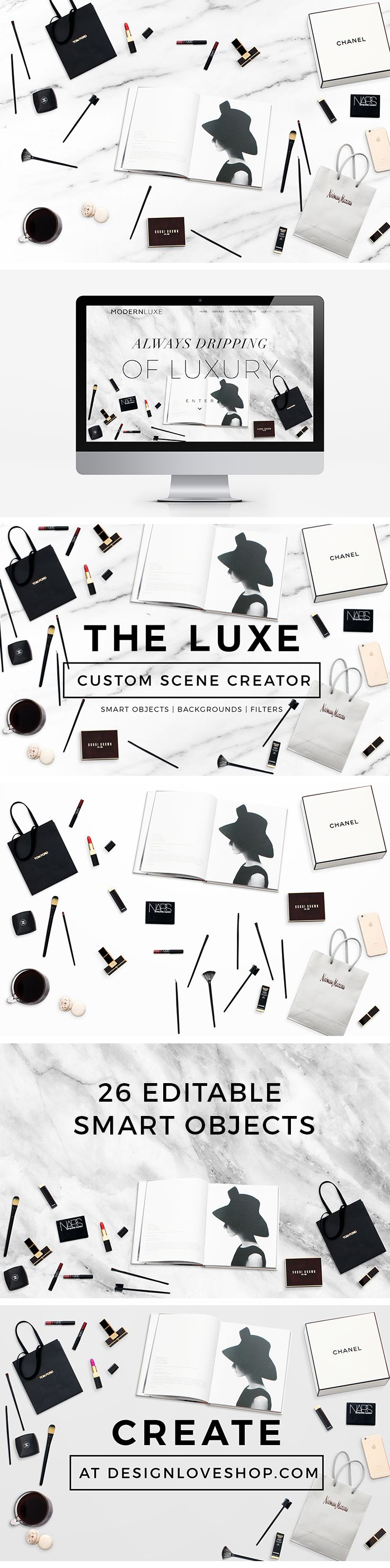 THE LUXE CUSTOM SCENCE CREATOR. Customize & make your website &/or blog beautiful.