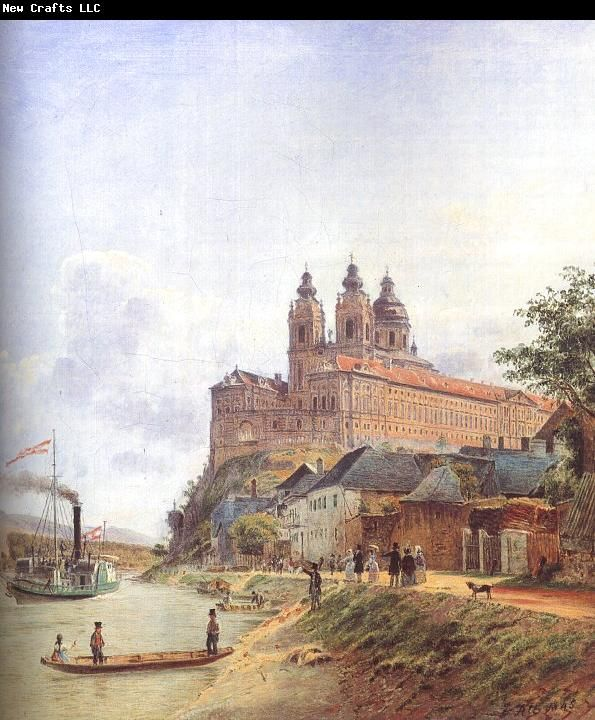 Jakob Alt - The Monastery of Melk on the Danube