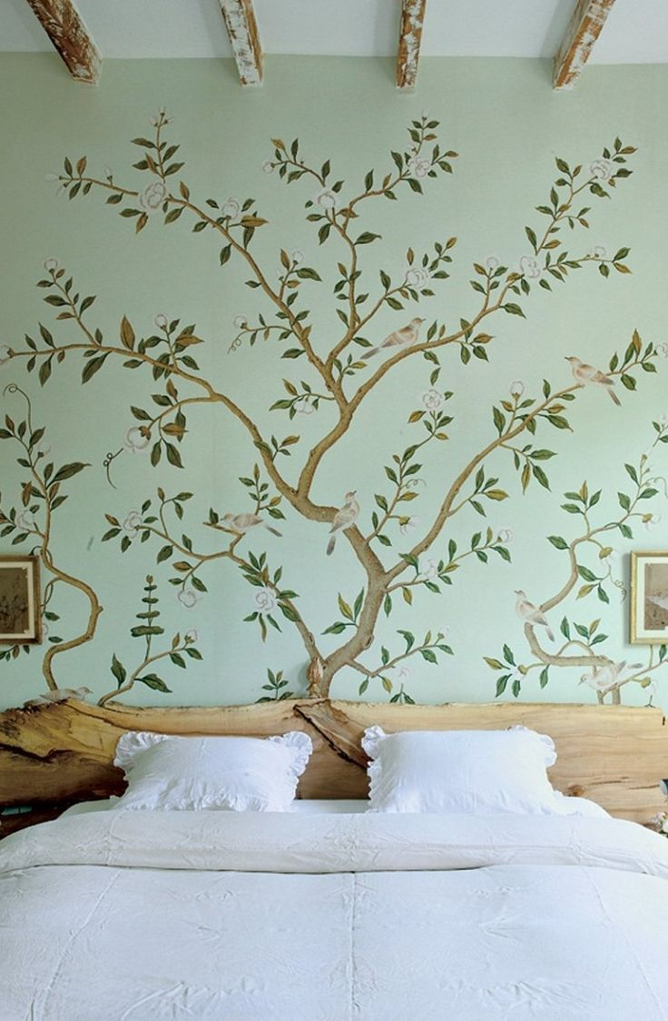 Best 25 nature inspired bedroom ideas on pinterest for Nature wallpaper for bedroom