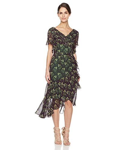 e3c9aa3e3fec Social Graces Womens Vintage Floral Print FauxWrap Ruffle HighLow Midi  Party Dress 4 Floral Print > Click for more Special Deals ...