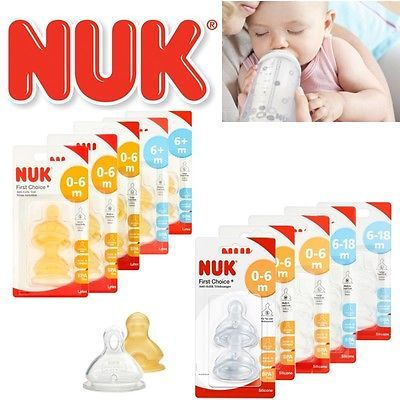 Nuk first choice baby milk #formula #feeding bottle silicone / latex teats #s,m,l,  View more on the LINK: 	http://www.zeppy.io/product/gb/2/122117408536/