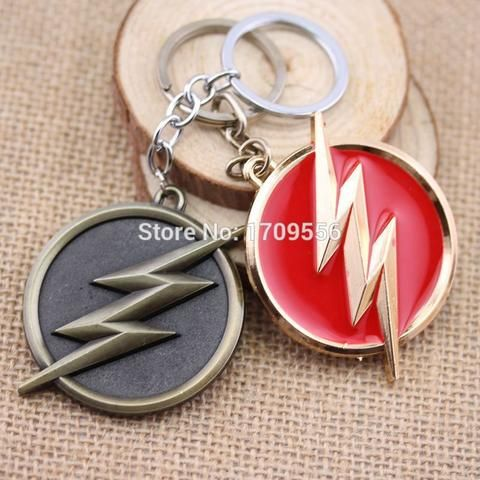 DC Comics Super Hero The Flash Logo Gold Keychain - The Cynical Clique - 1