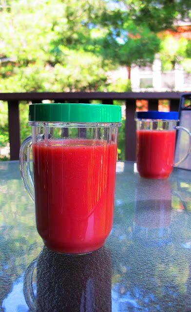 Mango-Strawberry-Watermelon Smoothie for energy