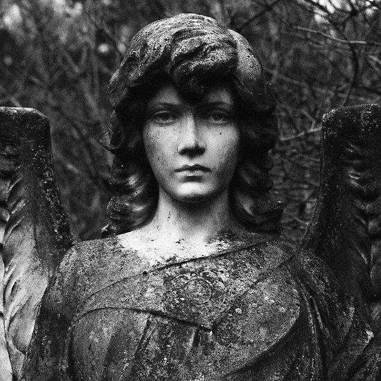 Logie Angel - so lifelike ... cemeteries are like art museums ... there's always at least one or two, even in a small burial ground