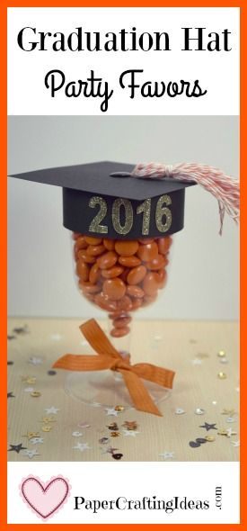 Filled with chocolate candies and made with lots of love, these graduation hat party favors are sure to be a hit at any grad party. Learn how to make them here.