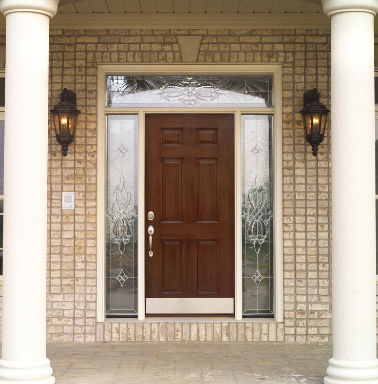 Front Door With Transom And Sidelights Entry Way