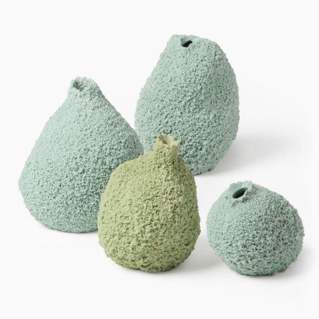 Set of Four Else Moss Vases