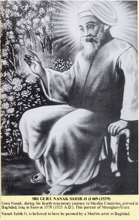 Original Painting of GURU NANAK, painted in Baghdad, Iraq. While he was on a visit.