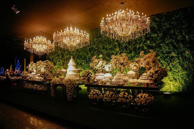 Mesa de bolo e mesa de doces casamento wedding decor