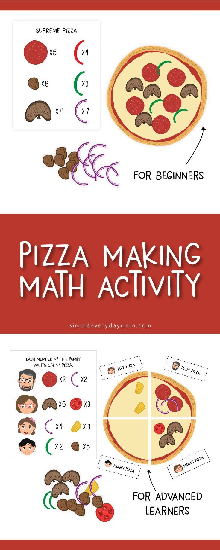 Pizza Game For Kids Math For Preschoolers Toddlers Printable Activities Fo Printable Activities For Kids Math Activities Preschool Fun Activities For Kids [ 1830 x 735 Pixel ]