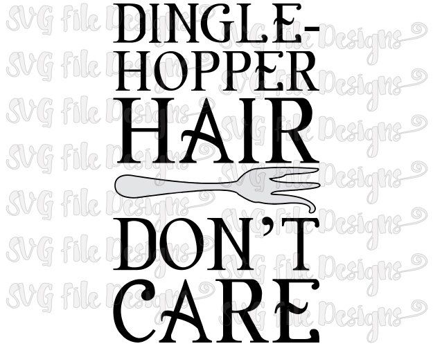 Dinglehopper Hair Don't Care Little Mermaid Disney Iron On Shirt Decal Cutting File in Svg, Eps, Dxf, Png, Jpeg for Cricut, Silhouette by SVGFileDesigns on Etsy https://www.etsy.com/listing/385123010/dinglehopper-hair-dont-care-little