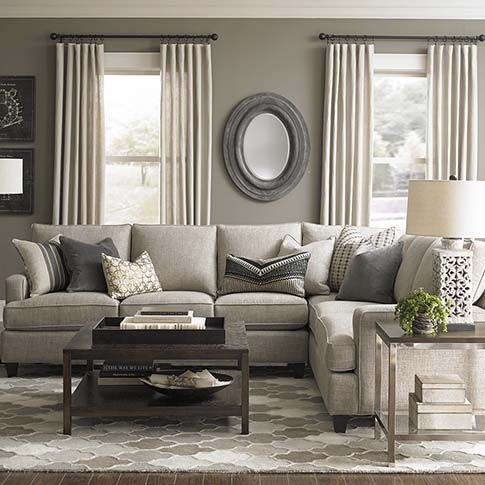 Custom Upholstery Medium L Shaped Sectional Living Room ColorsLiving IdeasGray Walls Brown