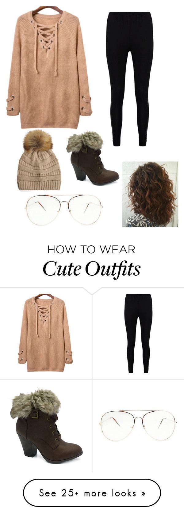 """Suuper cute winter outfit under 100$"" by sydderboo on Polyvore featuring Wild Diva, Boohoo and WithChic"