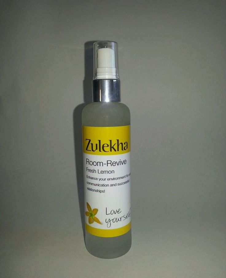 Room Spray Reviving Essential Oils 100ml Lemon Zulekha Aromatherapy Care