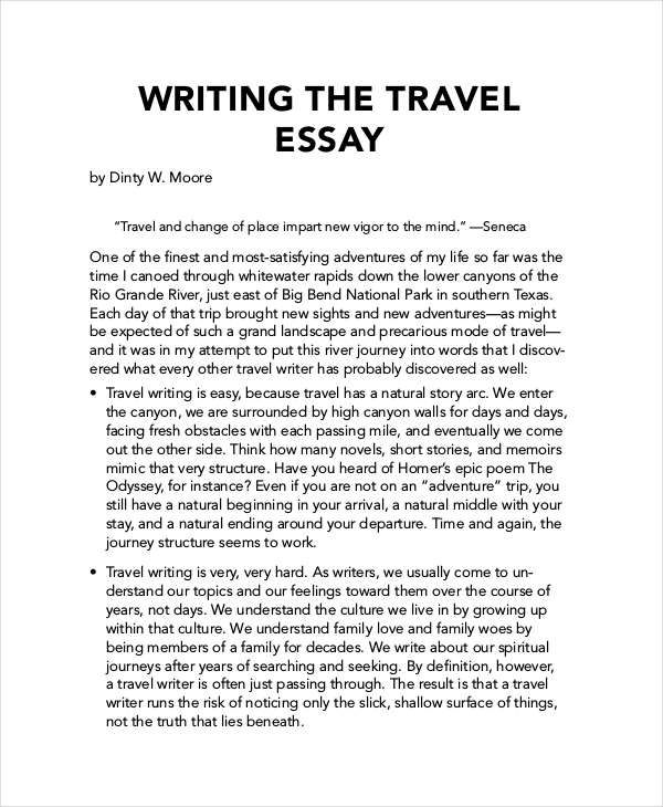 Travelling Essay Conclusion Travelling Essay Essay Essay Examples