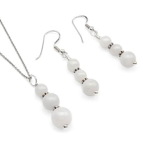 Stylish Jewelry Set  With Agates