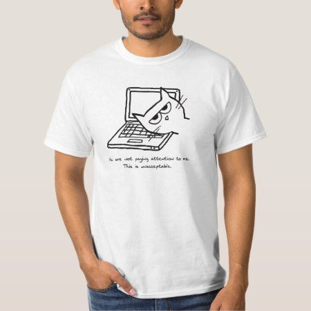 Angry Cat Demands Attention T-Shirt - tap to personalize and get yours