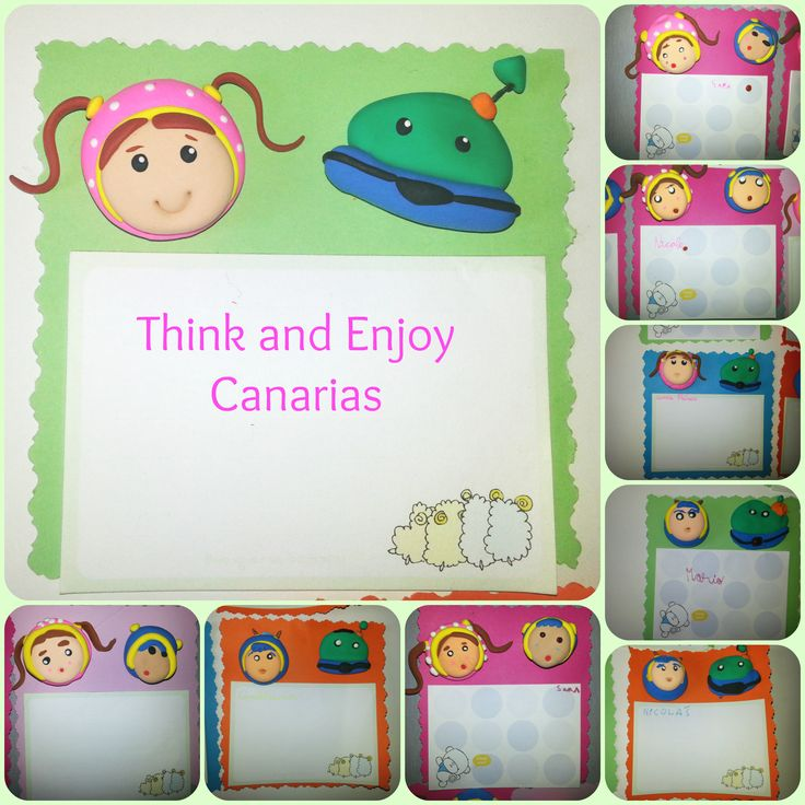 Block de notas para la nevera  Arcilla Think Enjoy + Cartulina e imán