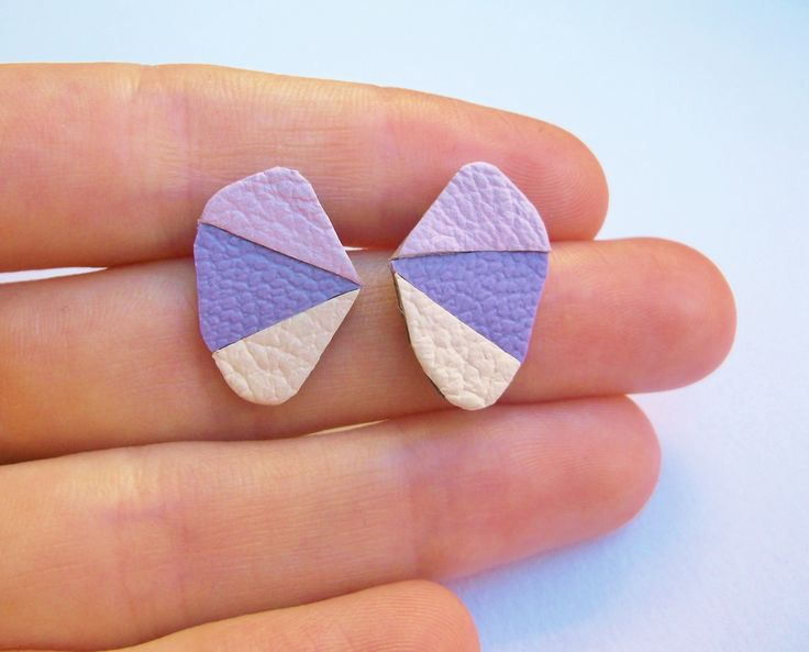 Lilac Purple Ice cream geometric earring available here https://www.etsy.com/uk/listing/198119950/candy-pastel-statement-geometric?ref=listing-shop-header-2