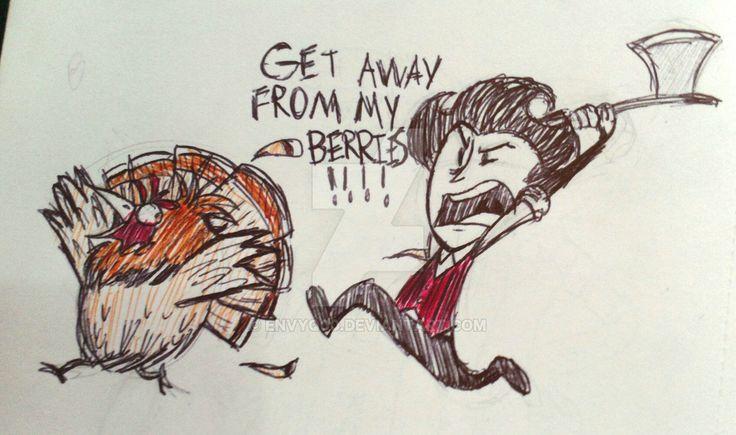 Inktober2016 - Day8 Stinkin' Turkey (Don't Starve) by EnvyQ00.deviantart.com on @DeviantArt