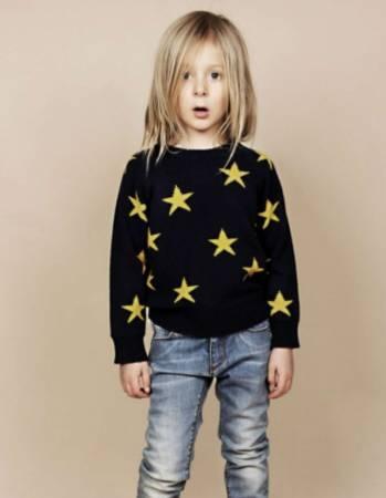 Mini Rodini strik med stjerner