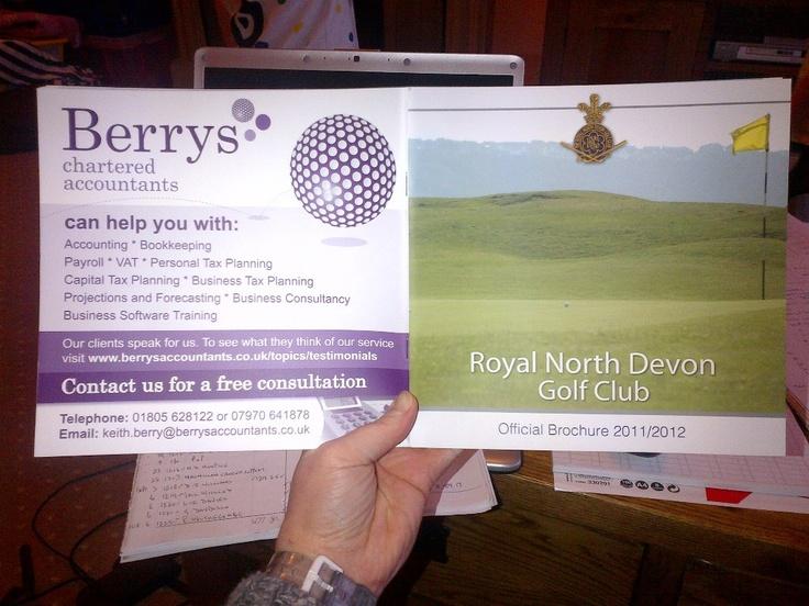 Royal North Devon Golf Club 2012 Brochure Advert.