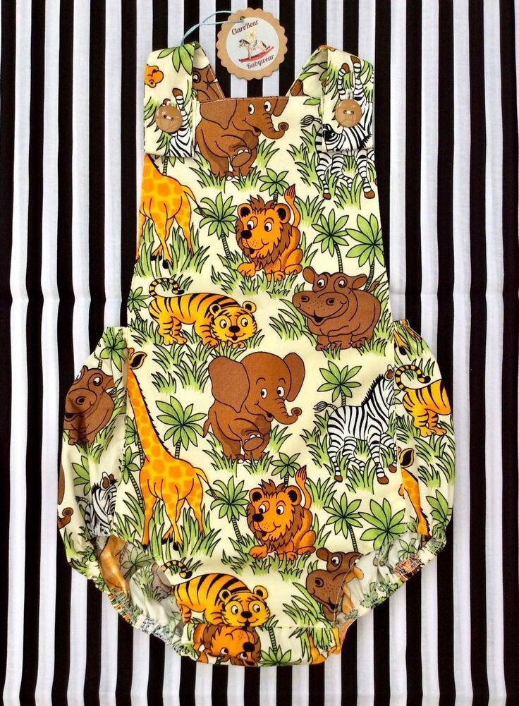 Costume Jungle Romper, vêtements pour bébés, 0 à 3-4 bébés unisexe fait à la main, vêtements pour garçons filles, tenues garçon fille Zebra lion tenue de tigre girafe   – Unisex Baby clothes