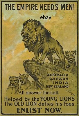 Ww1 #recruiting poster british army australia #india #canada nz new a4 print ,  View more on the LINK: http://www.zeppy.io/product/gb/2/381853011972/