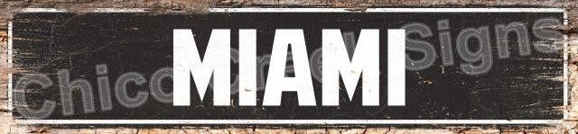 MIAMI Street Plate Sign Chic Decor 4180069