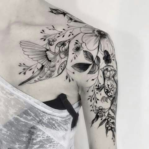 Floral tattoo -Uploaded by LyndaAnn