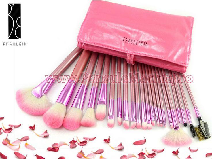 Set 22 pensule machiaj pink Fraulein38