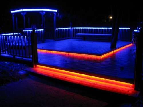 DIY LED Patio lights. Somebody walk me through this. I just love it.