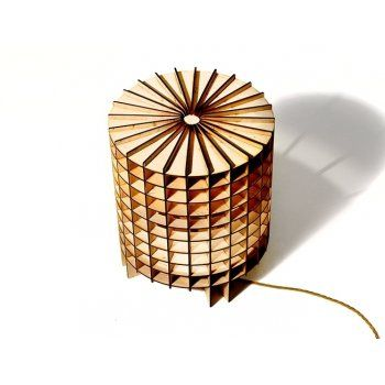 Hemmesphere Lighting Table Cryptex Birch Wood Table Lamp / Floor Light