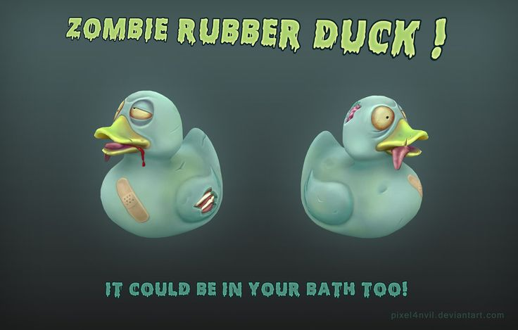 zombie rubber duck by Pixel4nvil