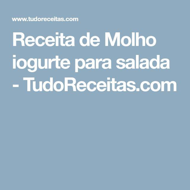 Receita de Molho iogurte para salada - TudoReceitas.com