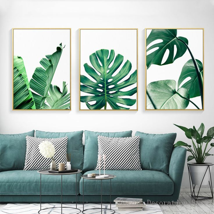 Canvas Print Wall Art Decor Tropical Leaves Palm Tree By Chic Room Decor Leaf Wall Art Cool Walls Canvas Wall Art