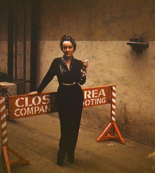 Gloria Swanson on the set of Sunset Blvd. (1950)