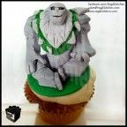 DOTA Cupcake_Defense Against the Ancients_Gaming Cupcake_Gamers_Geeky Cupcake_Geek Cake_Tiny_Giant Rock_Boulder