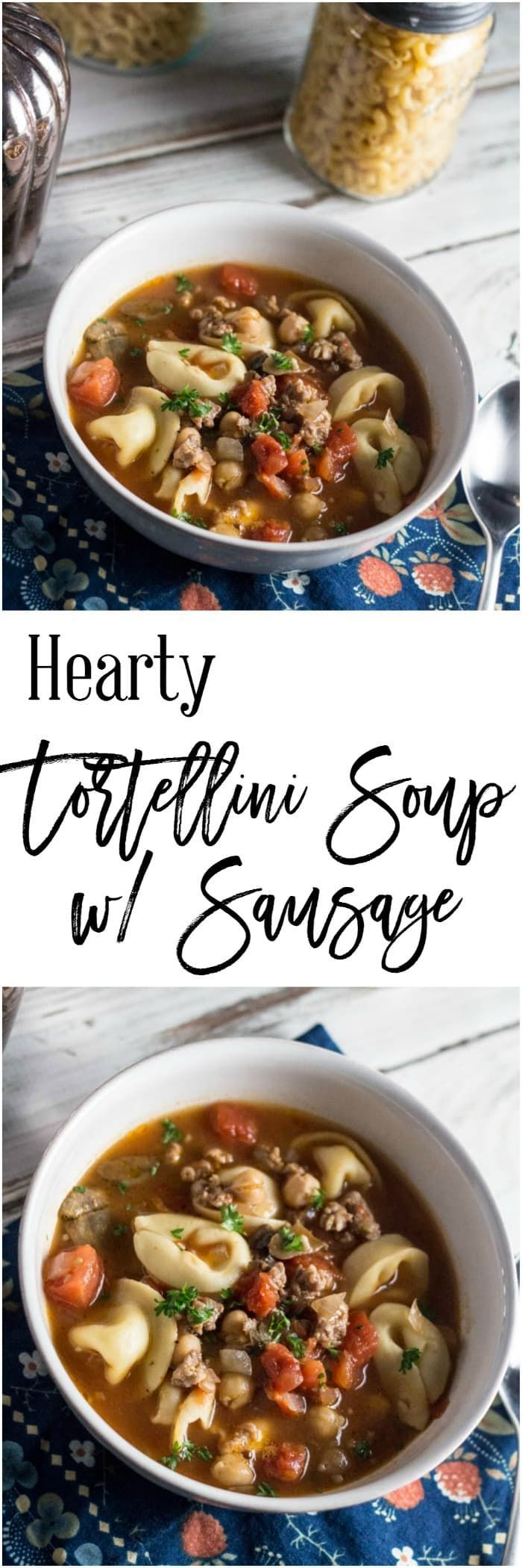 If you are looking for a soup that is hearty and delicious, look no further. This hearty tortellini soup with sausage is perfect for either a wonderful lunch.  This recipe is Weight Watcher friendly too, at only 9 SmartPoints per serving!  https://dashofherbs.com/hearty-tortellini-soup-sausage/