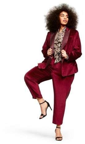 Women's Plus Size Long Sleeve Velvet Blazer – Altuzarra for Target Red