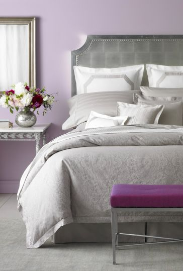 Indulge in the finer things in life: LAUREN RALPH LAUREN #bedding #home #.  Lavender Grey BedroomsPurple BedroomsPurple And Grey BeddingPurple ...