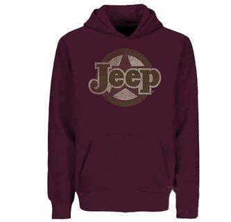 Traditional Jeep Star Sweatshirt, Adult Hoodie, Burgundy