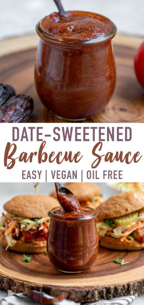 Date Sweetened Barbecue Sauce Oil Free