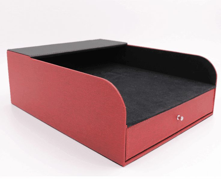 Faux Leather Desktop Stationery Organizer S8053 can be used to organize office supplies, jewelry, or watches. We are reliable office organizers supplier.