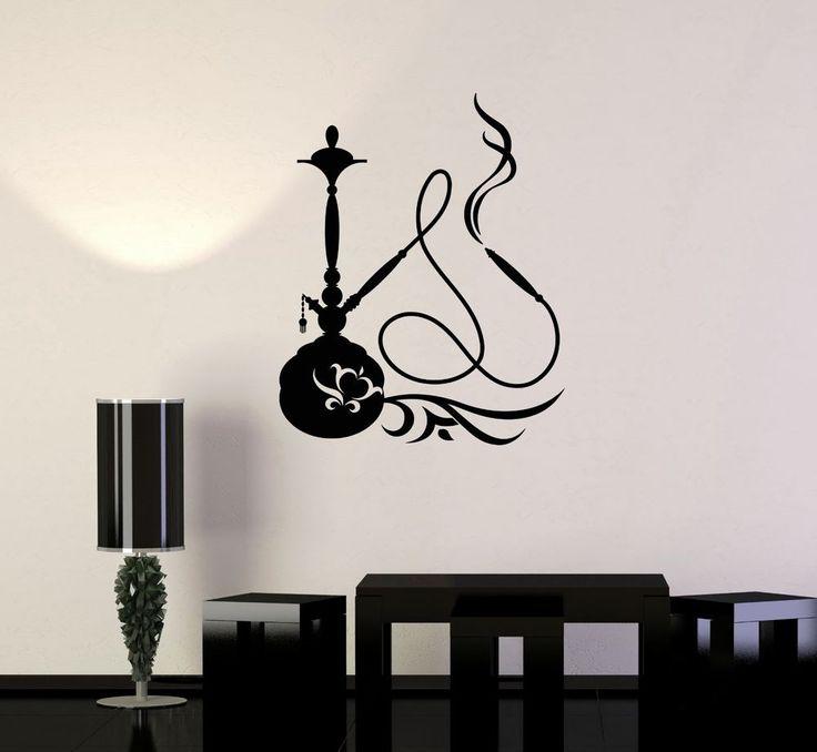 Vinyl Wall Decal Hookah Shisha Smoking Smoke Arabic Decor Wall Stickers (ig3344) #Wallstickers4you #VinylArt
