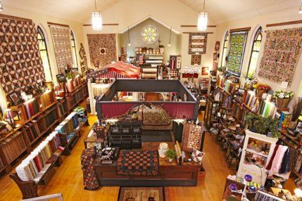 Nestled in a former church, Bittersweet Quilt Shop & Home Decor in Pinconning, Michigan, is a quilter's sanctuary.