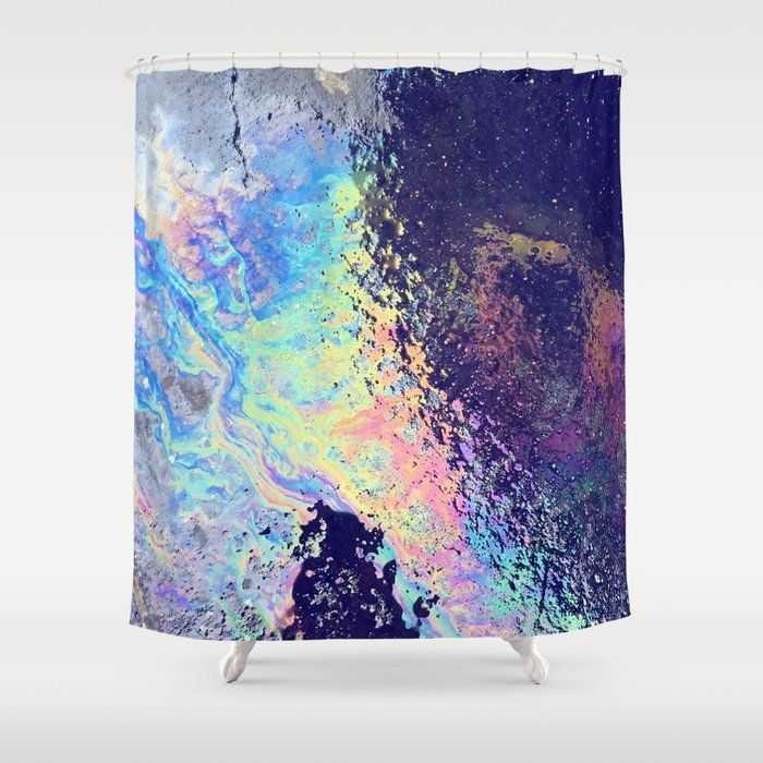 Buy Trippy Oil In Water Rainbow Shower Curtain By Poonicycle