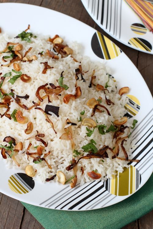 Ghee (Clarified Butter) Rice - subtly spiced special occasion dish