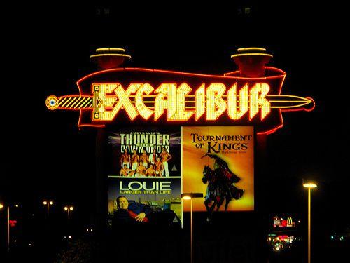 Neon sign, Excalibur casino, Las Vegas | Flickr - Photo Sharing!